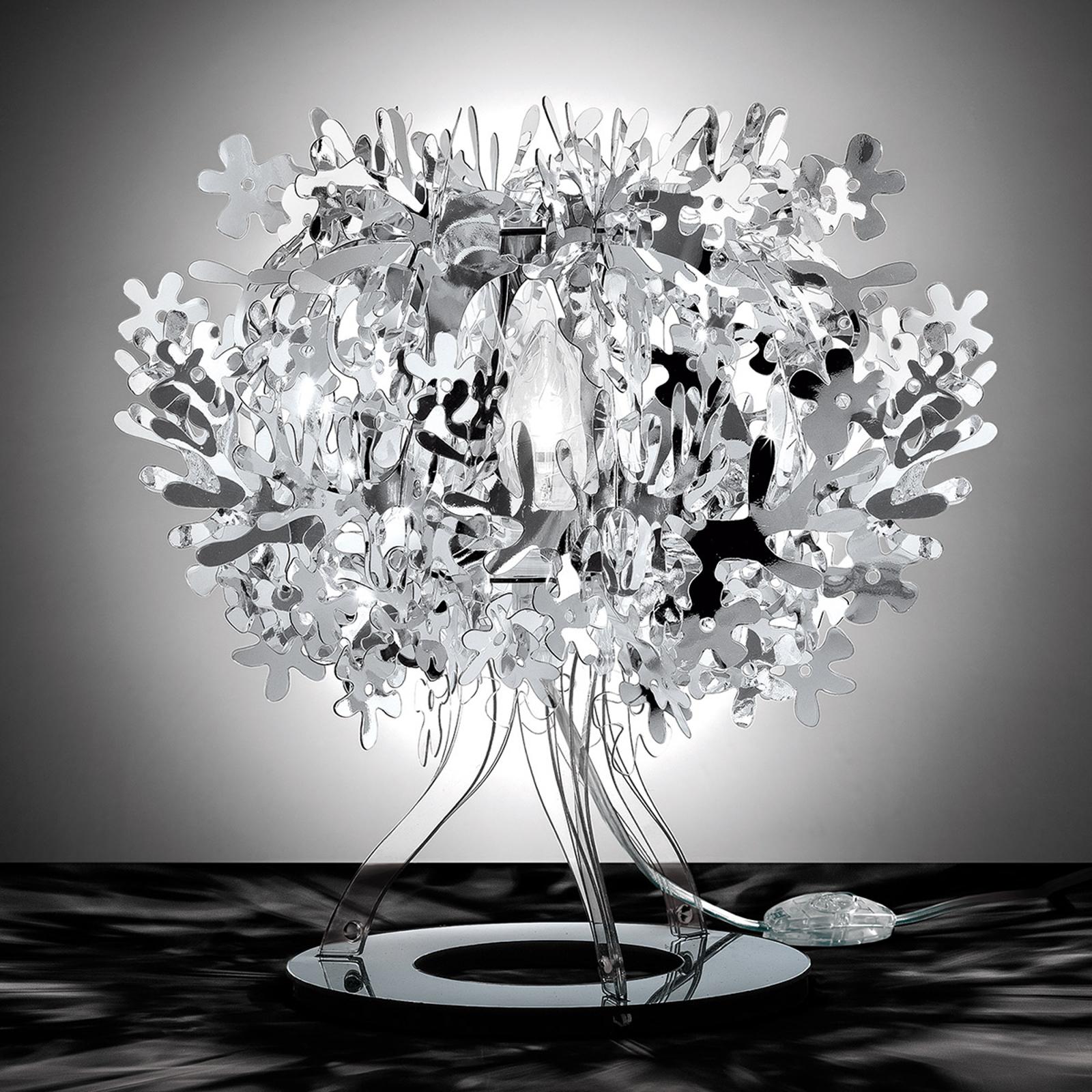 Lampe à poser de designer Fiorellina, argenté