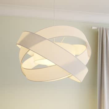 Lindby Simaria lampa wisząca z tkaniny, biała