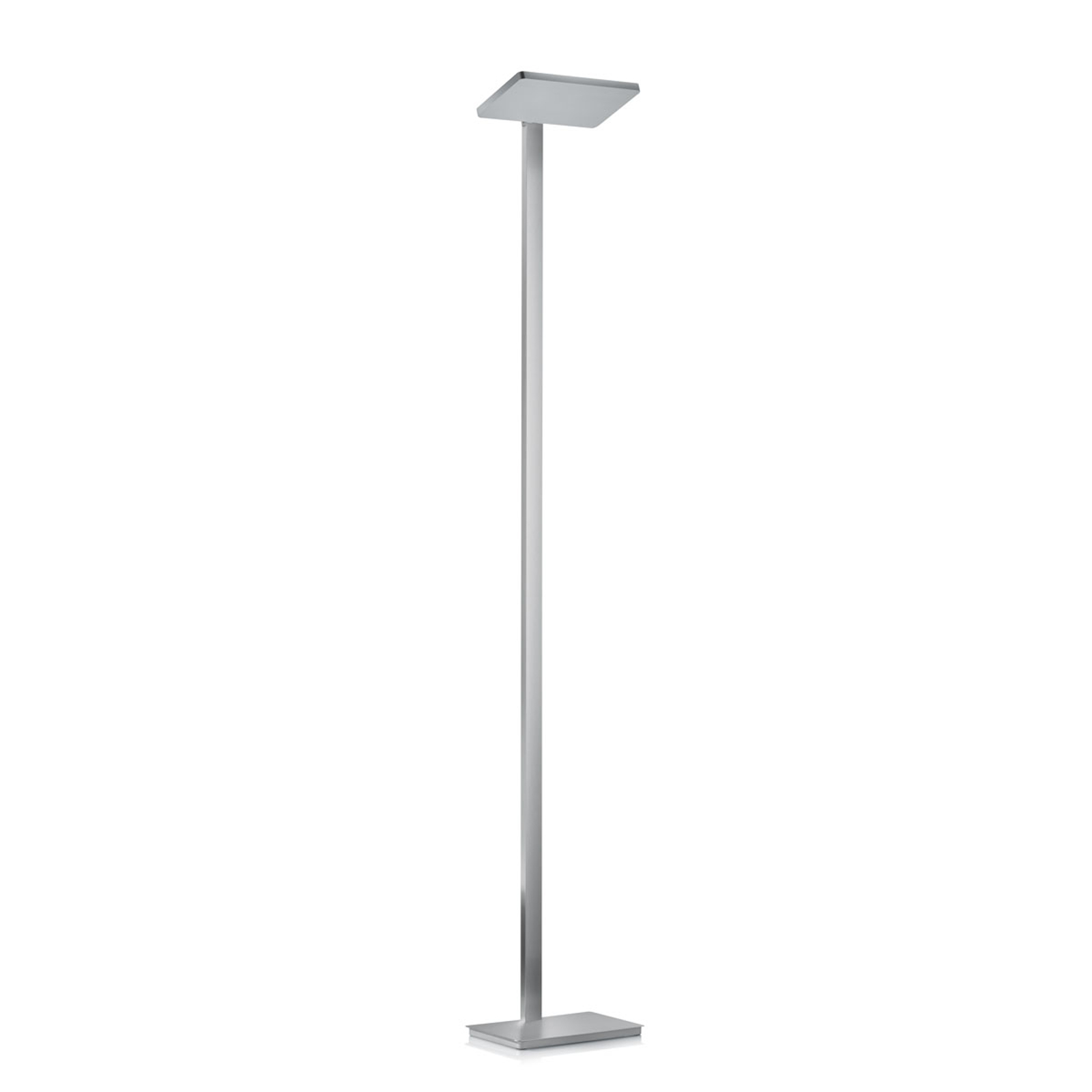 Lampadaire LED Geri moderne, nickel mat
