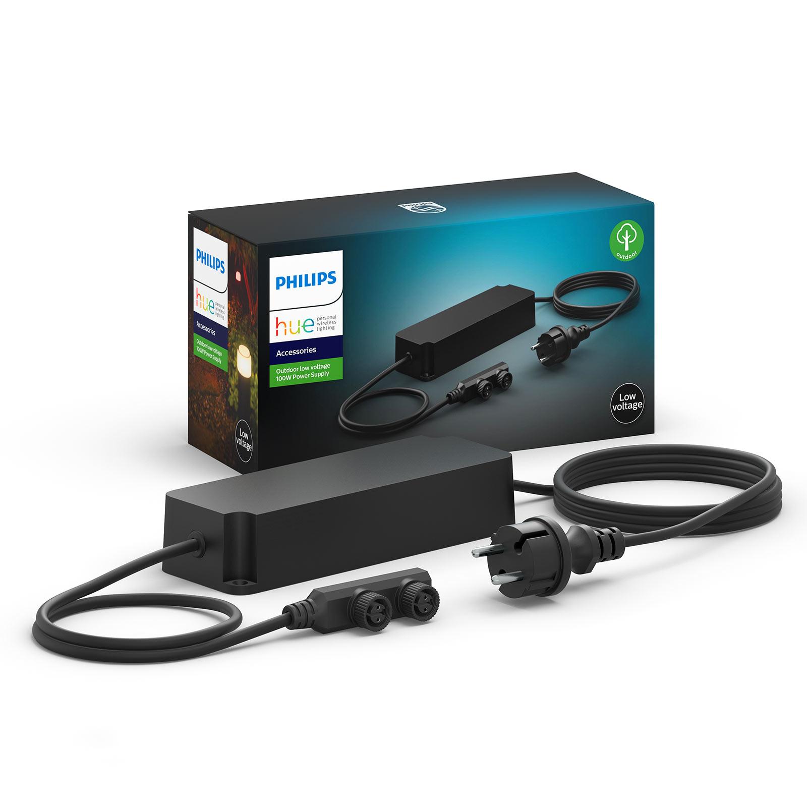 Philips Hue Outdoor-strømf., 2 udgange, 24V, 100W