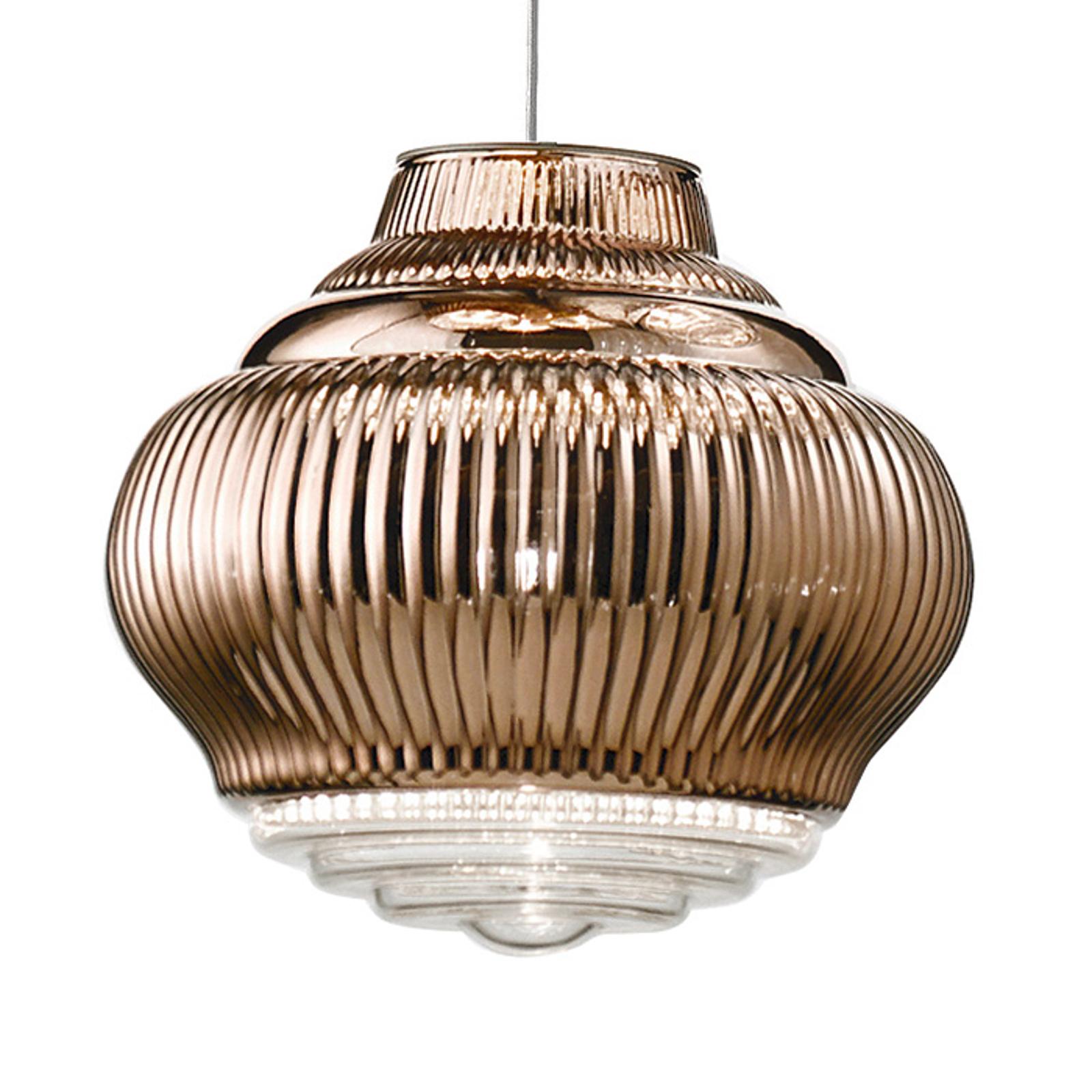 Lampa wisząca Bonnie 130 cm brązowa metallic