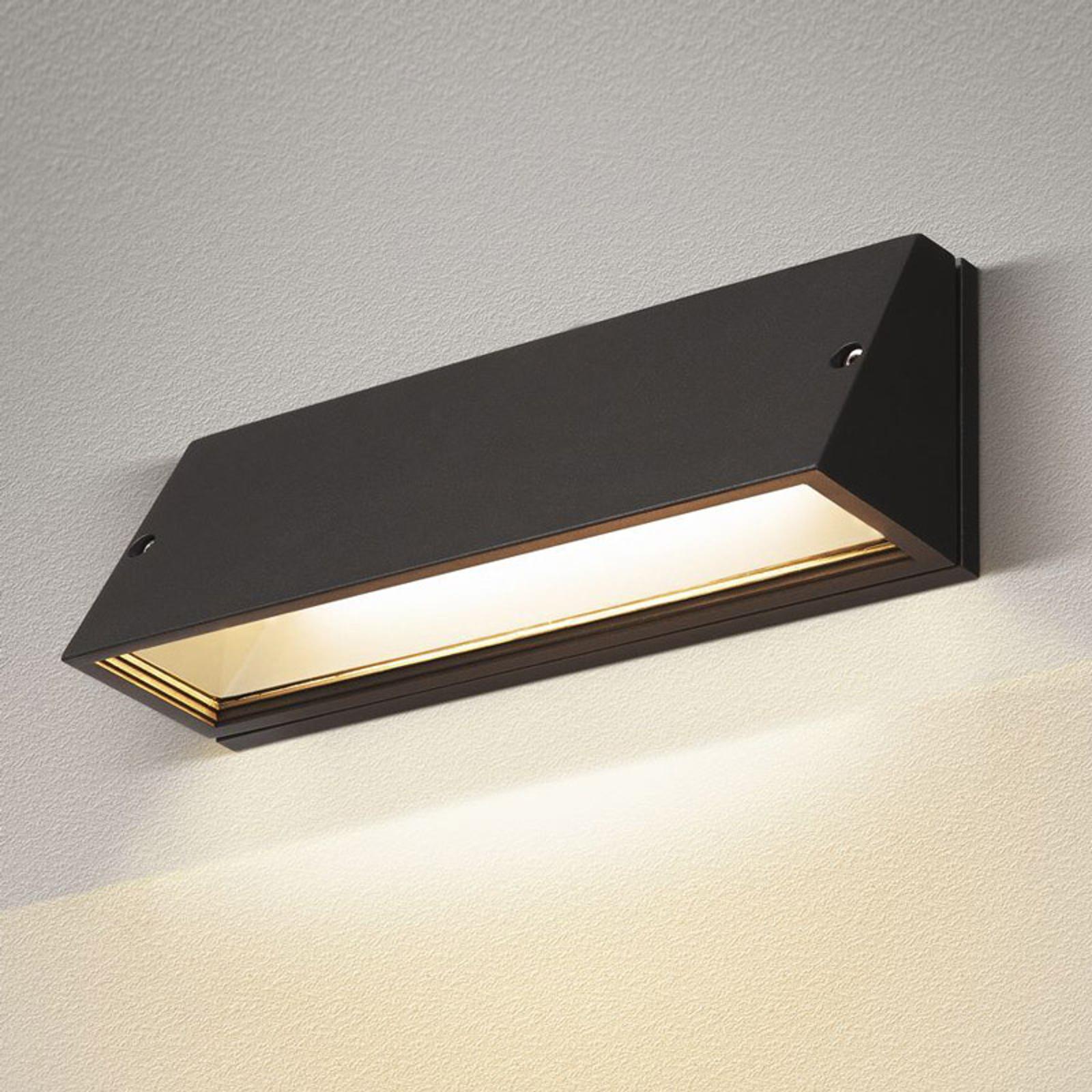 SLV Pema LED-Außenwandleuchte, CCT, schwarz