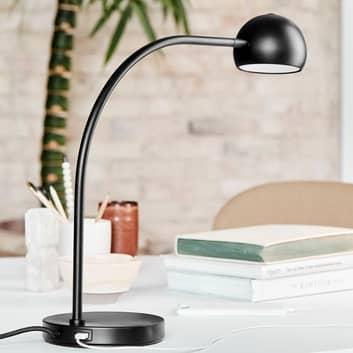 FRANDSEN Ball USB LED-Tischleuchte, schwarz matt