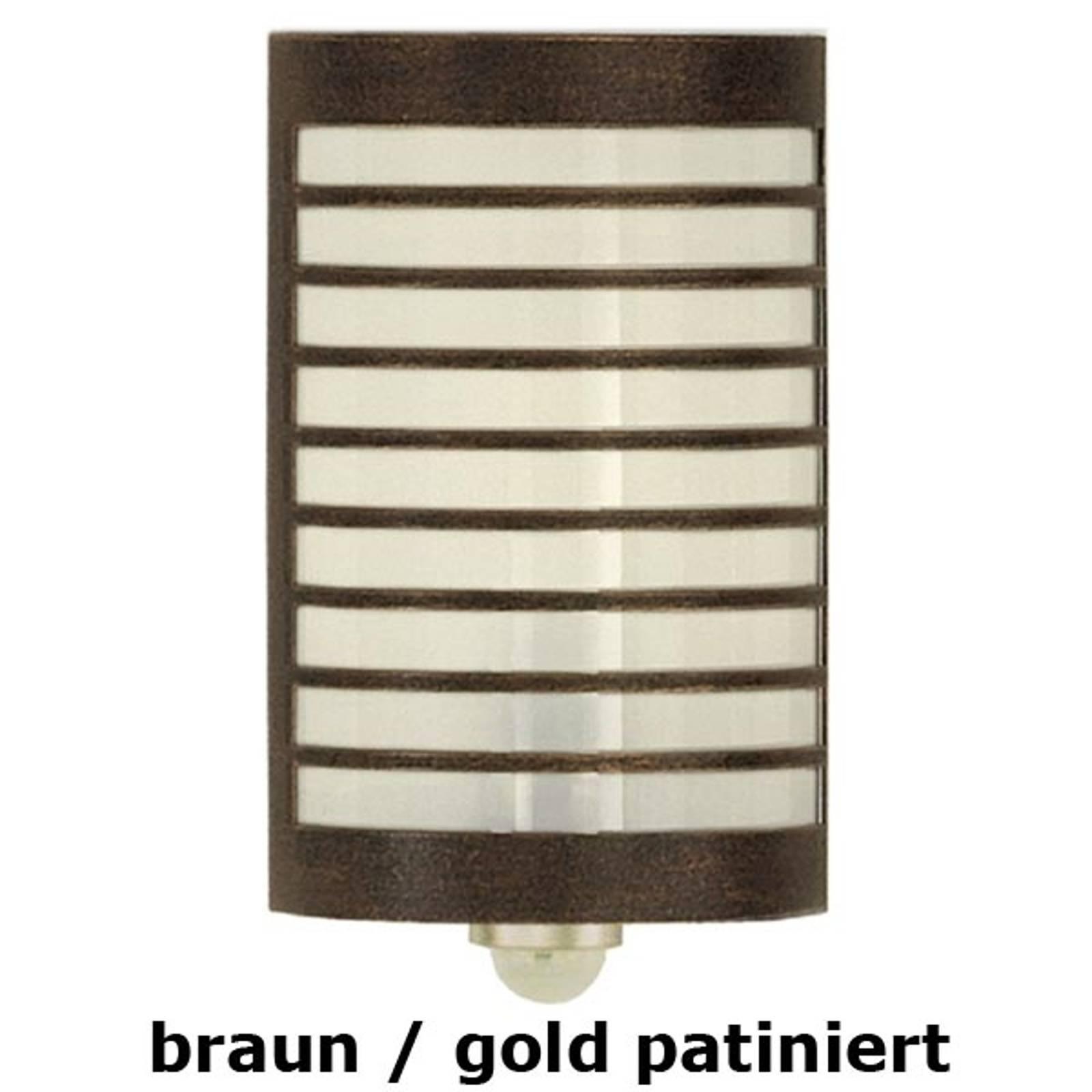 Wandleuchte TERU mit Bewegungsmelder braun/gold pa