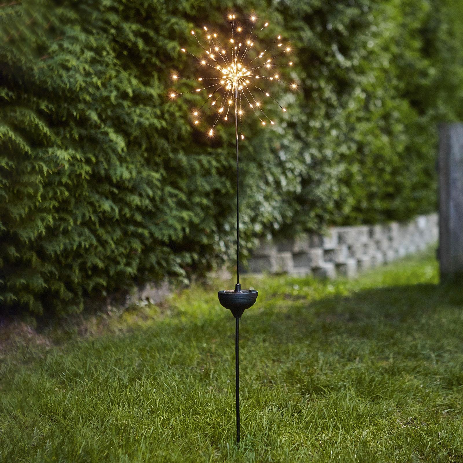 LED solární lampa Firework se zapichovacím hrotem