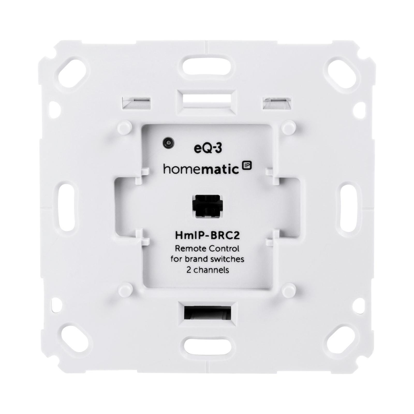 Homematic IP Wandtaster für Markenschalter, 2-fach
