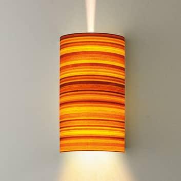 Lámpara de pared Bongo en aspecto de madera