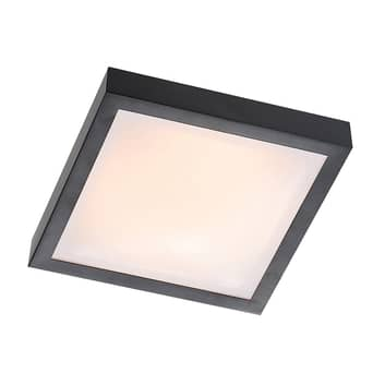Lindby Atilio LED-Deckenleuchte in Schwarz, eckig