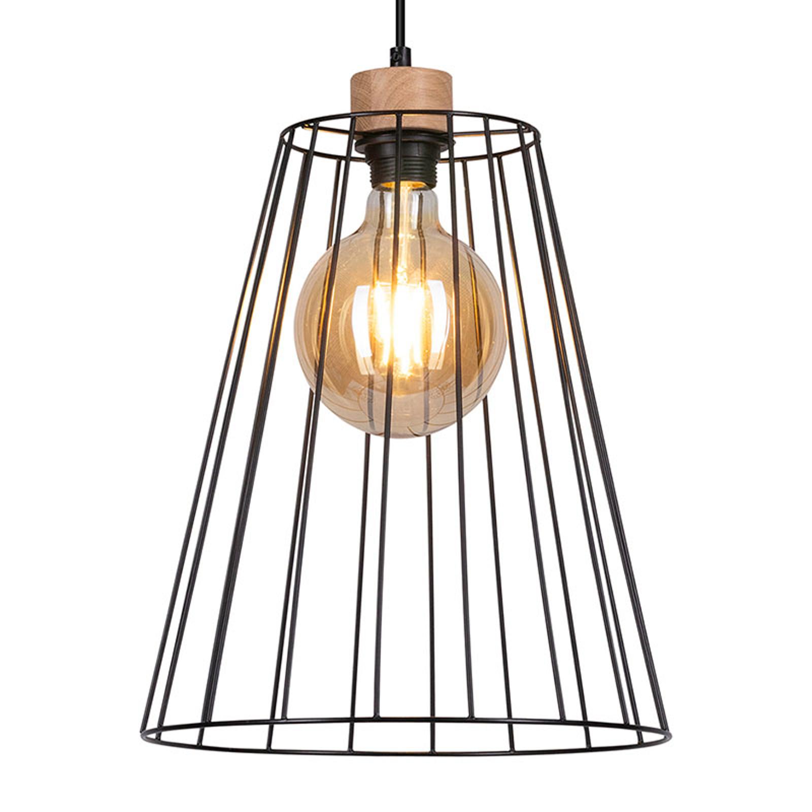 Lampa wisząca Cailand z kloszem klatkowym