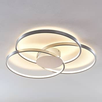 Lindby Riley LED-Deckenleuchte, dimmbar, alu