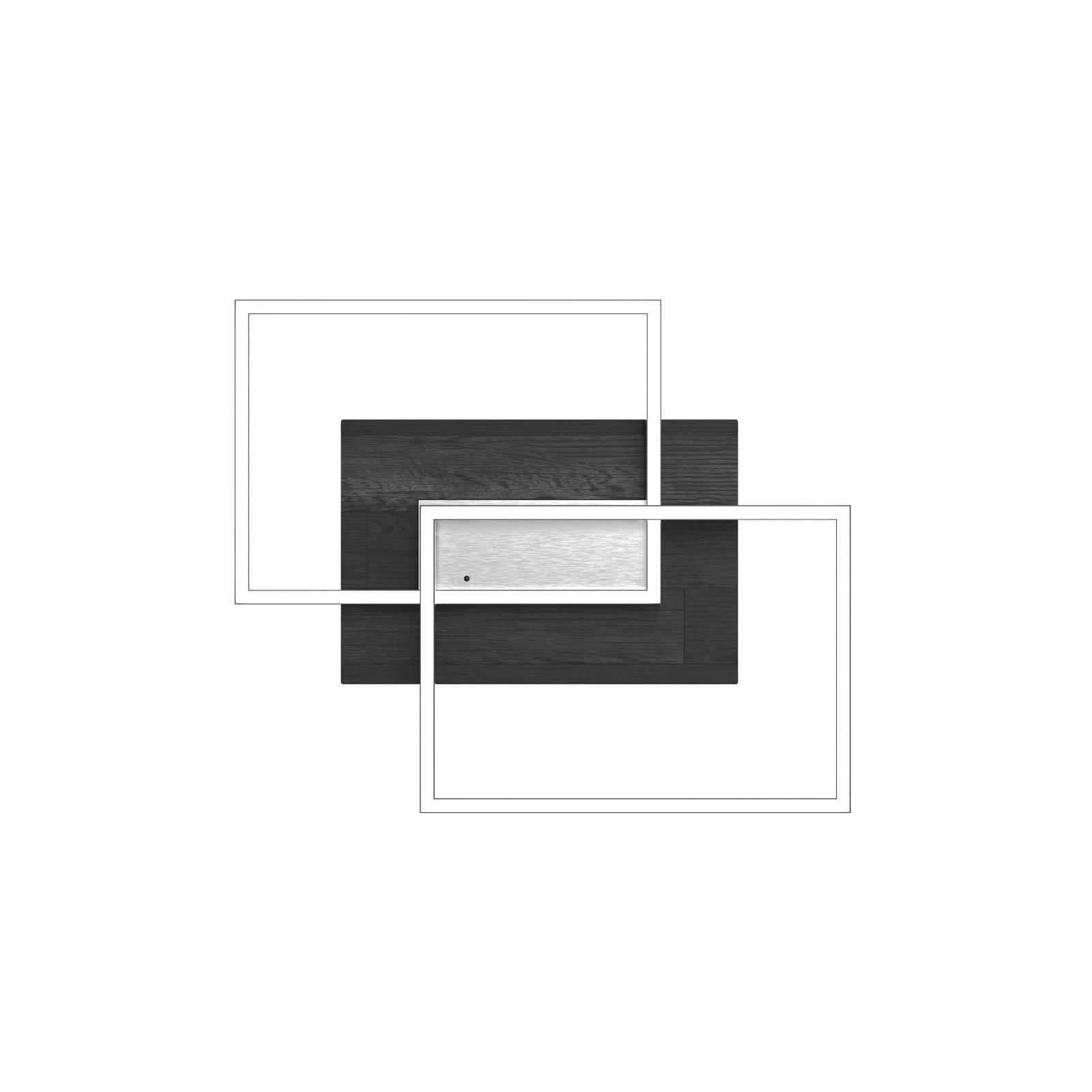 LED-Deckenleuchte Panama S, Eiche schwarz