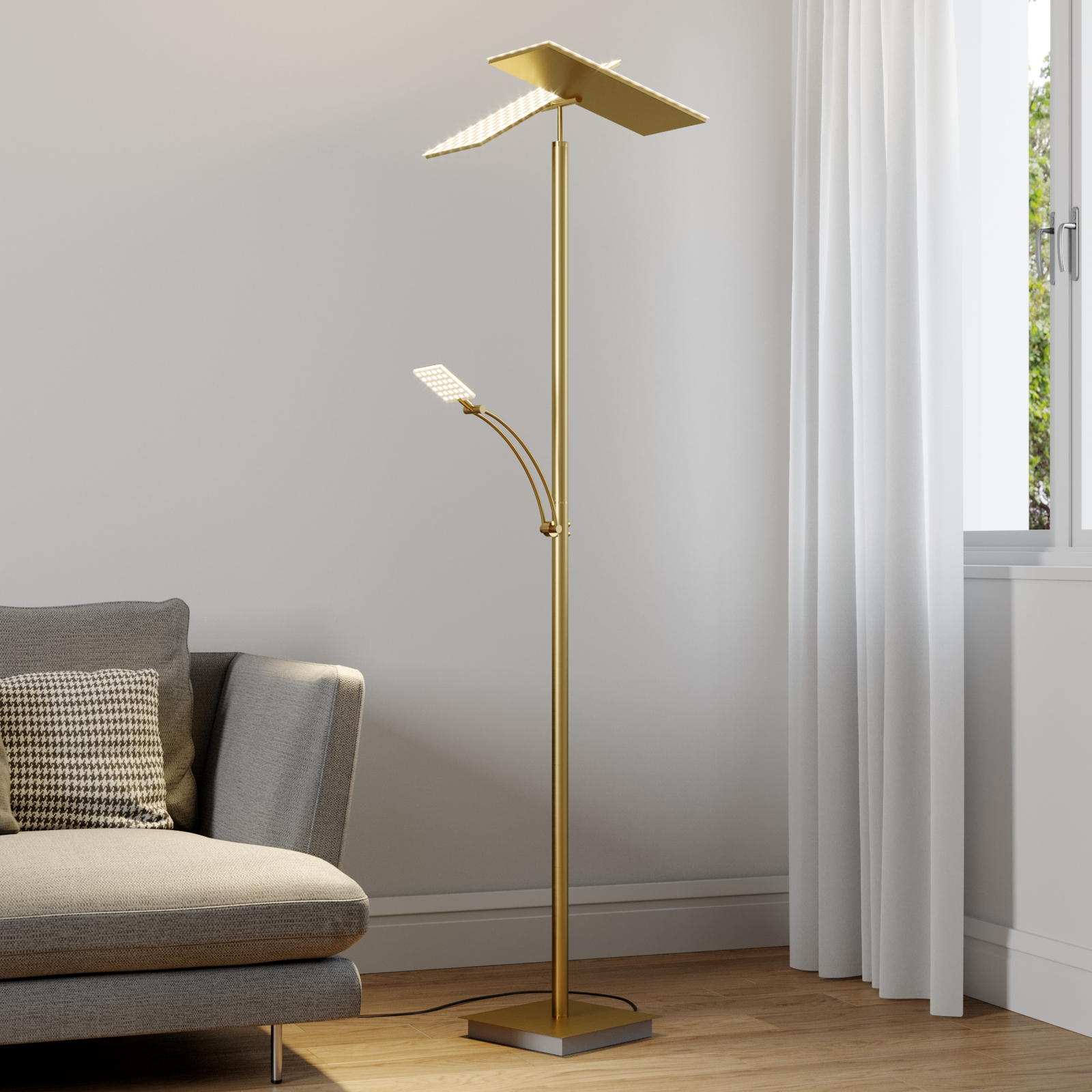 Lucande lampa LED oświetlająca sufit Parthena