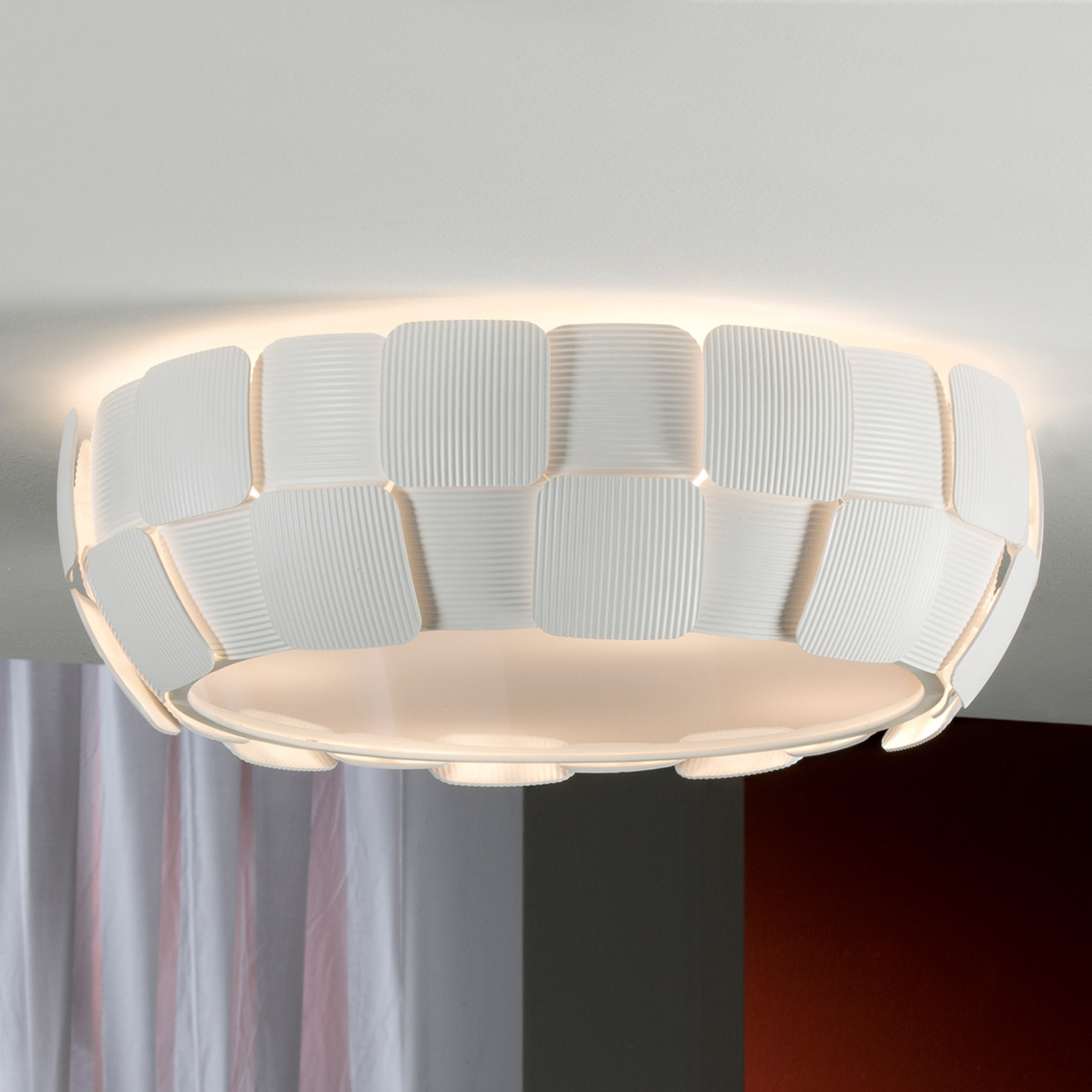 LED-Deckenleuchte Quios in 3D-Optik
