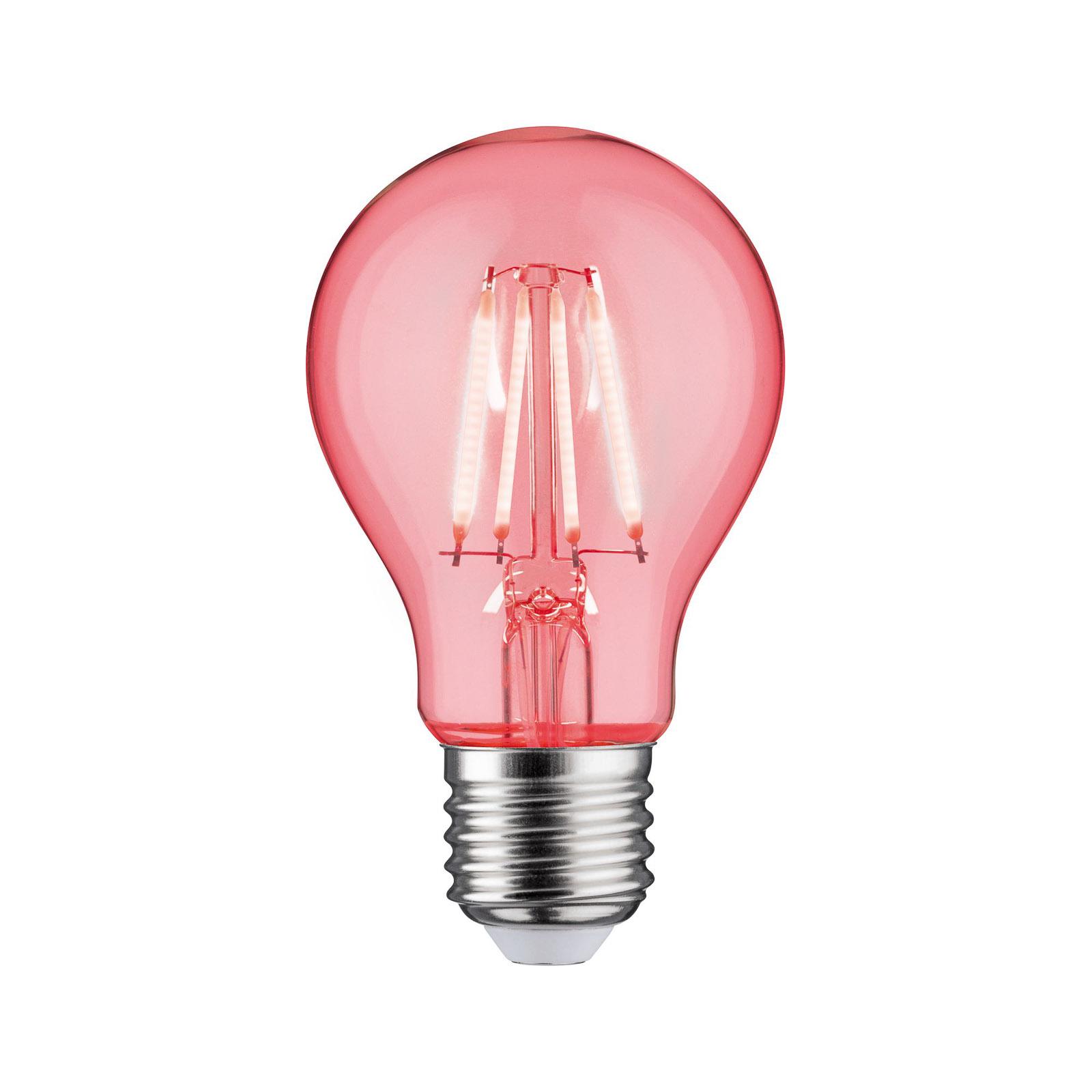 Paulmann LED-pære E27 filament rød 1,3W