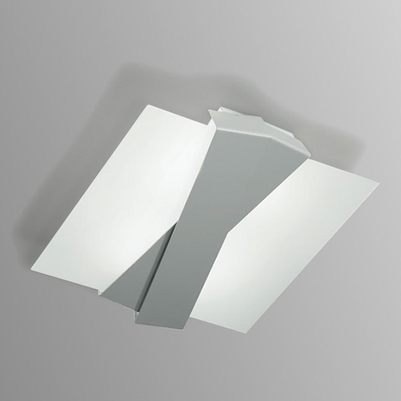 Nowoczesna lampa sufitowa ZIG ZAG aluminium