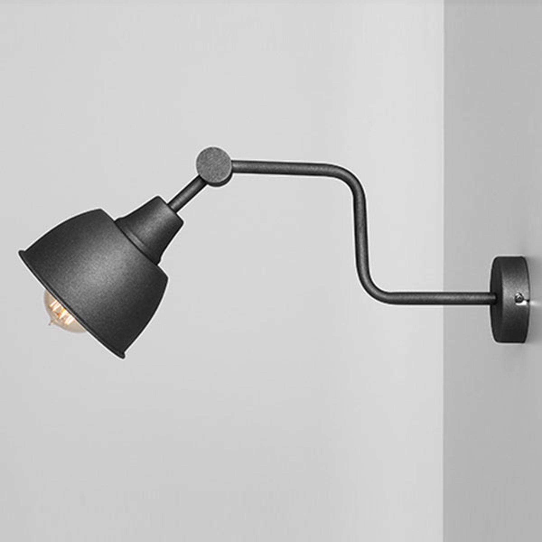 Applique 990, à 1 lampe, noire