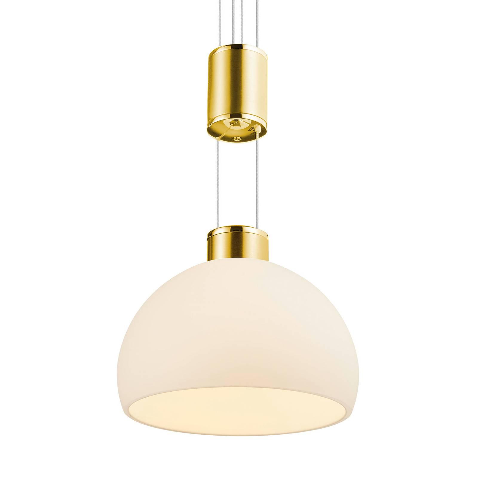 BANKAMP Meesterwerk hanglamp 3-lamps messing