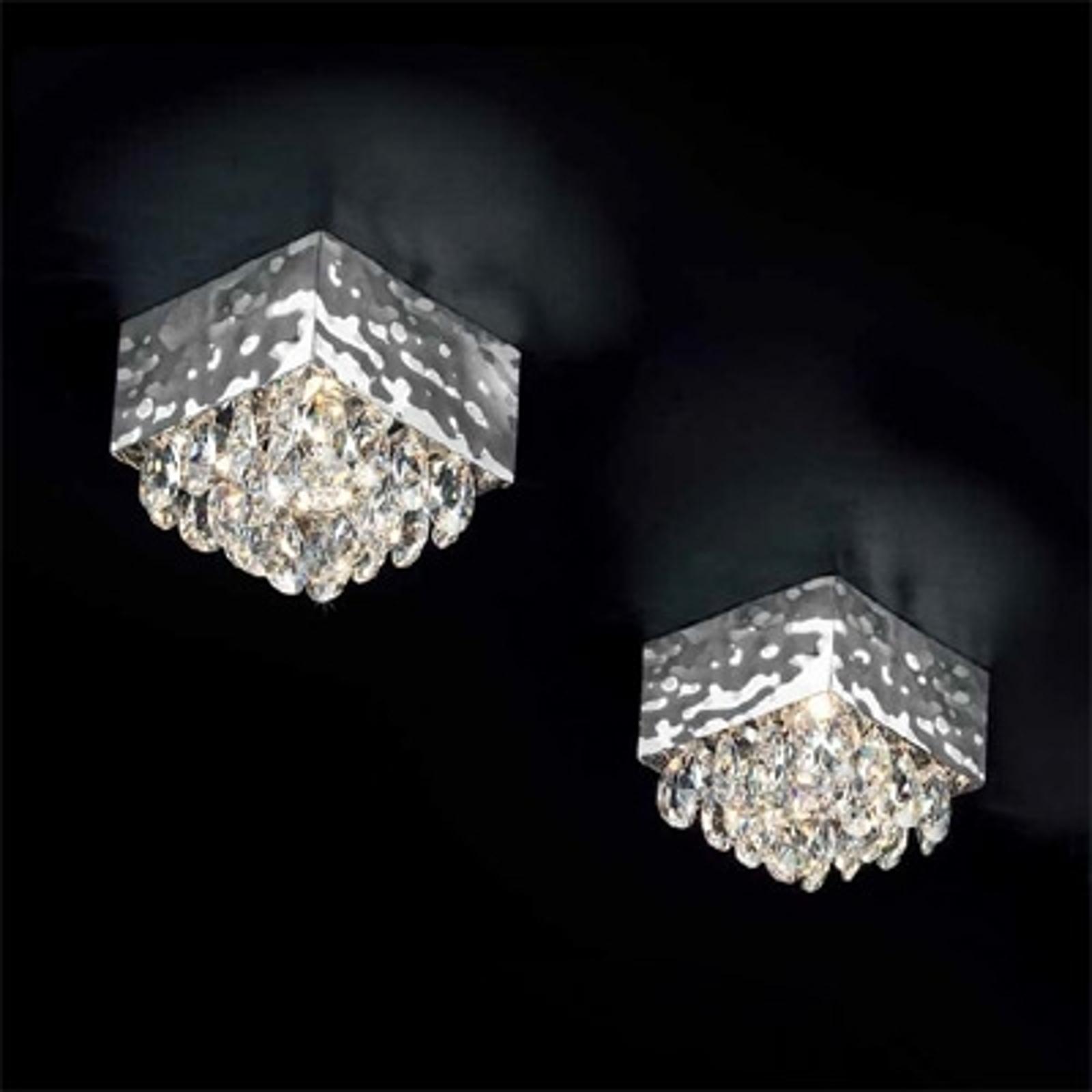 Liten taklampe MAGMA med krystalloppheng