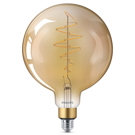 Philips E27 Giant LED-globepære 6,5W gold dimbar