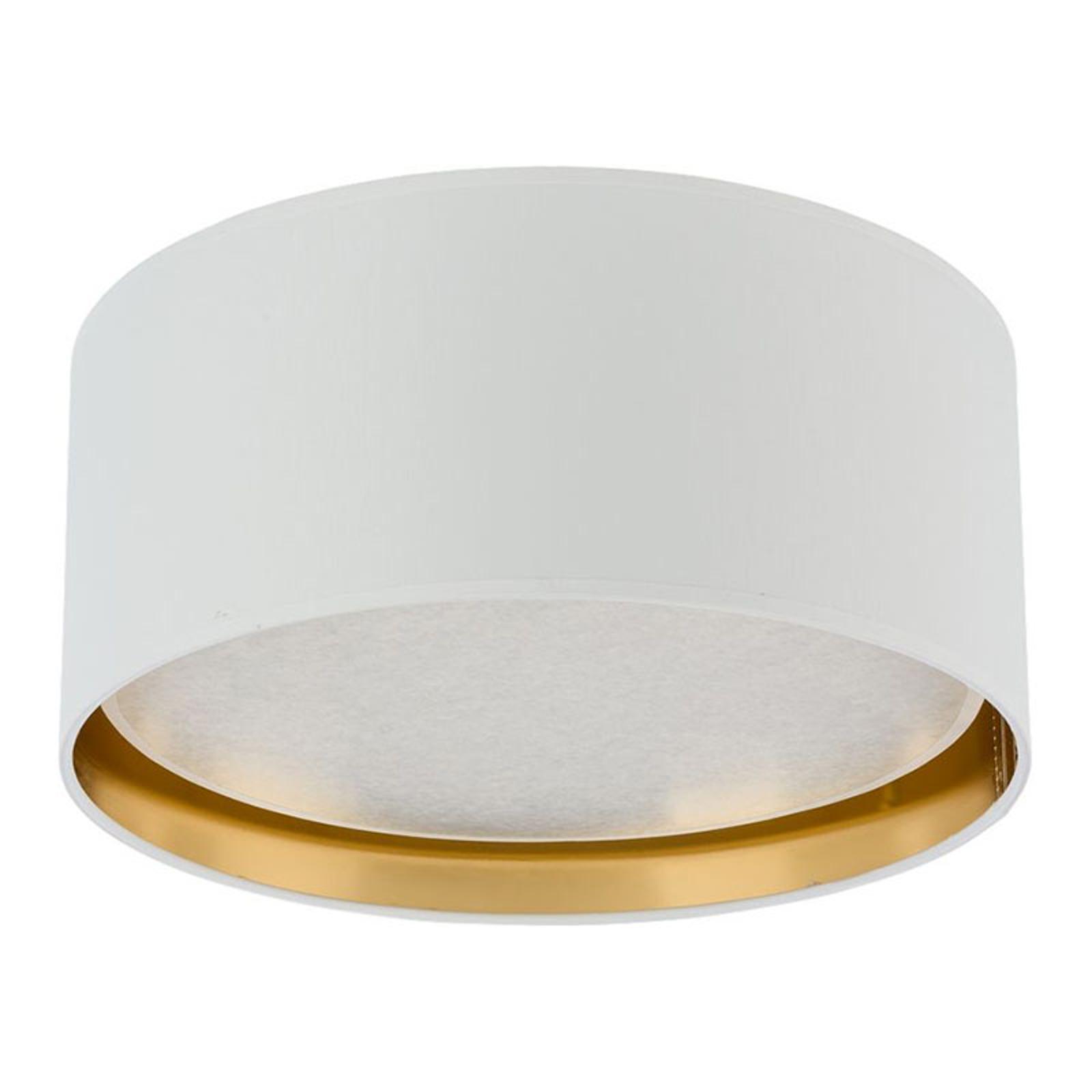 Lampa sufitowa Bilbao, Ø 45cm, biała/złota