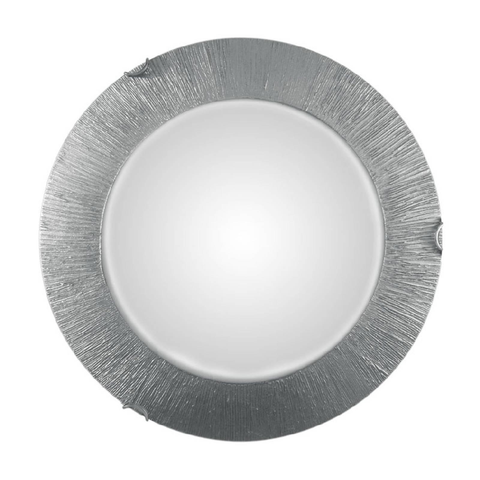Wandlamp Moon Sun, zilver, Ø 40 cm