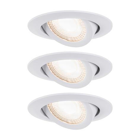 Paulmann LED-Einbauspot 3er 6W, schwenkbar