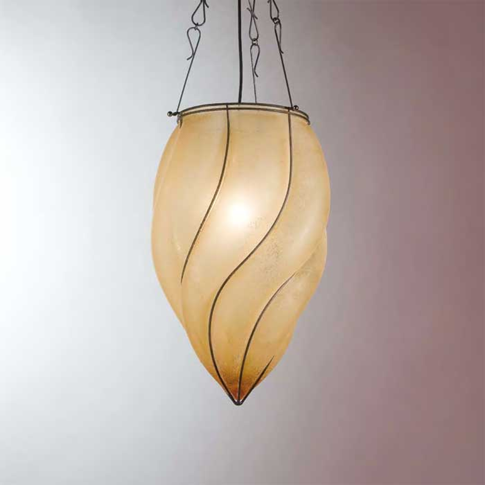 Betoverende hanglamp POZZO, 26 cm