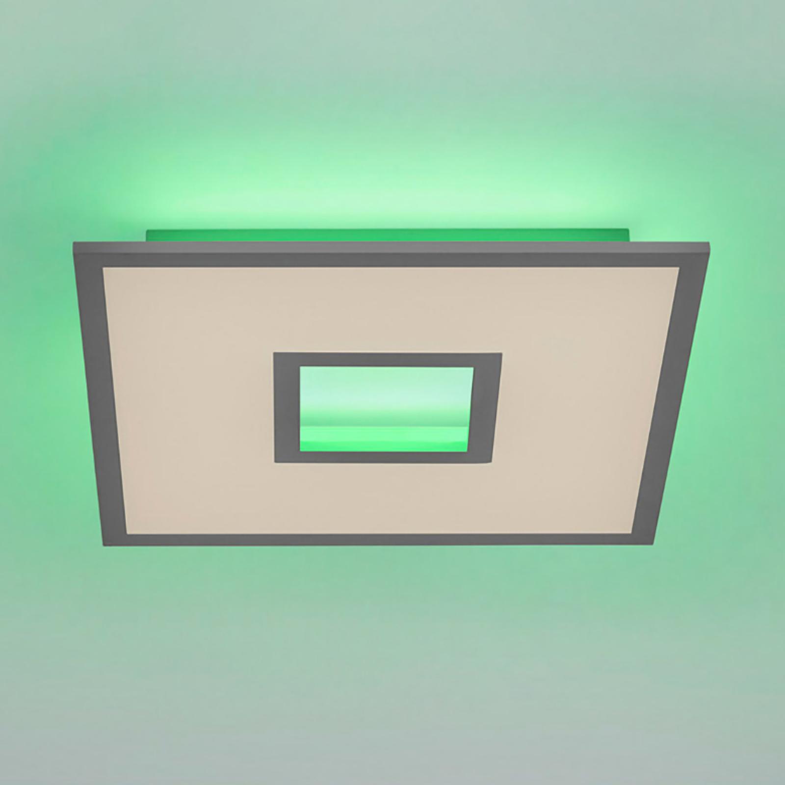 Recess LED-taklampe med fjernkontroll RGBW