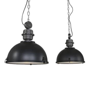Lámpara colgante Bikkel 2 luces, negro