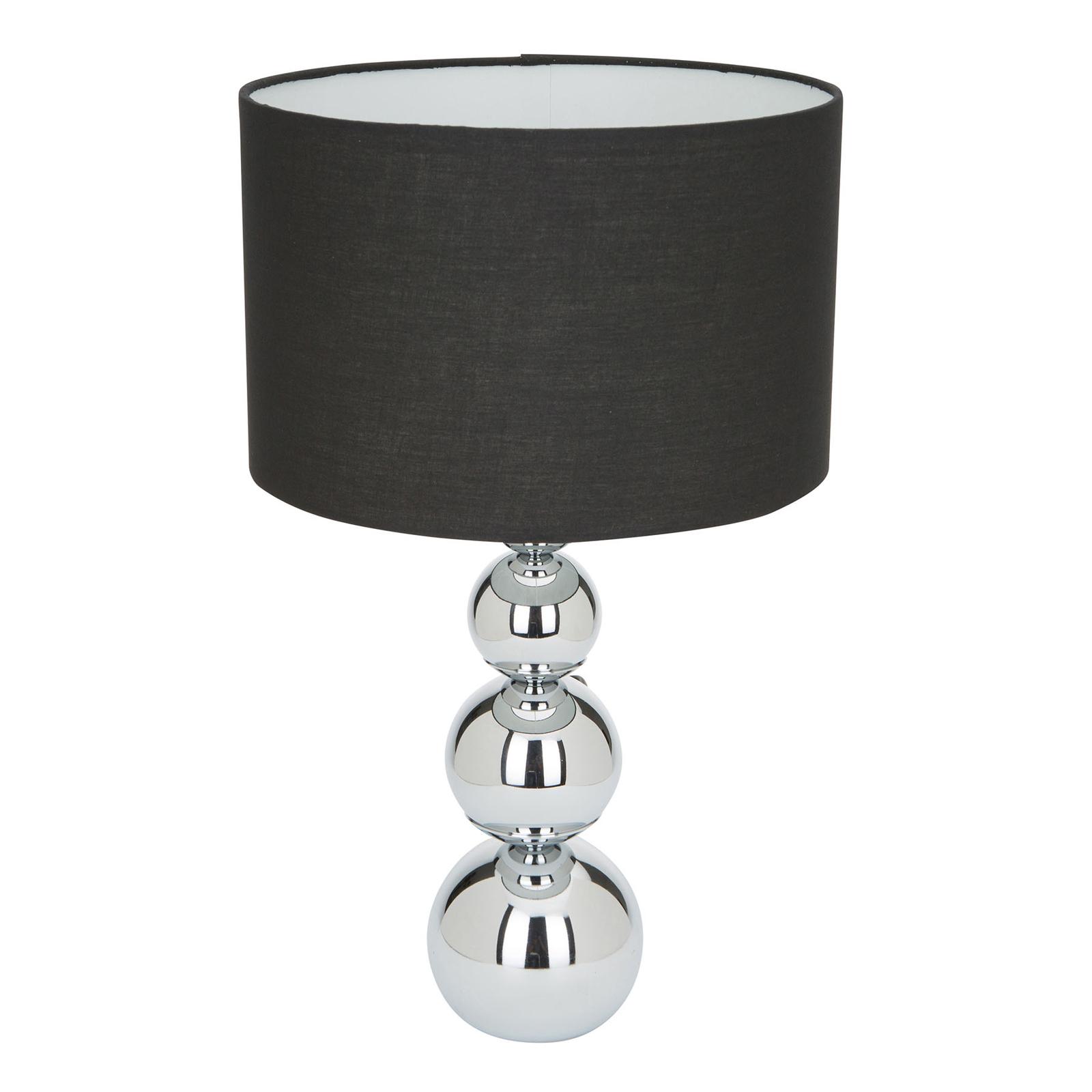 Lampa stołowa Mandy, funkcja dotykowa, czarna