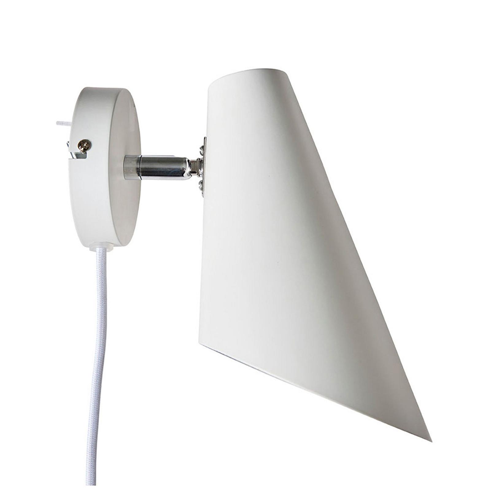 Dyberg Larsen Cale Wandlampe Höhe 24,5 cm weiß