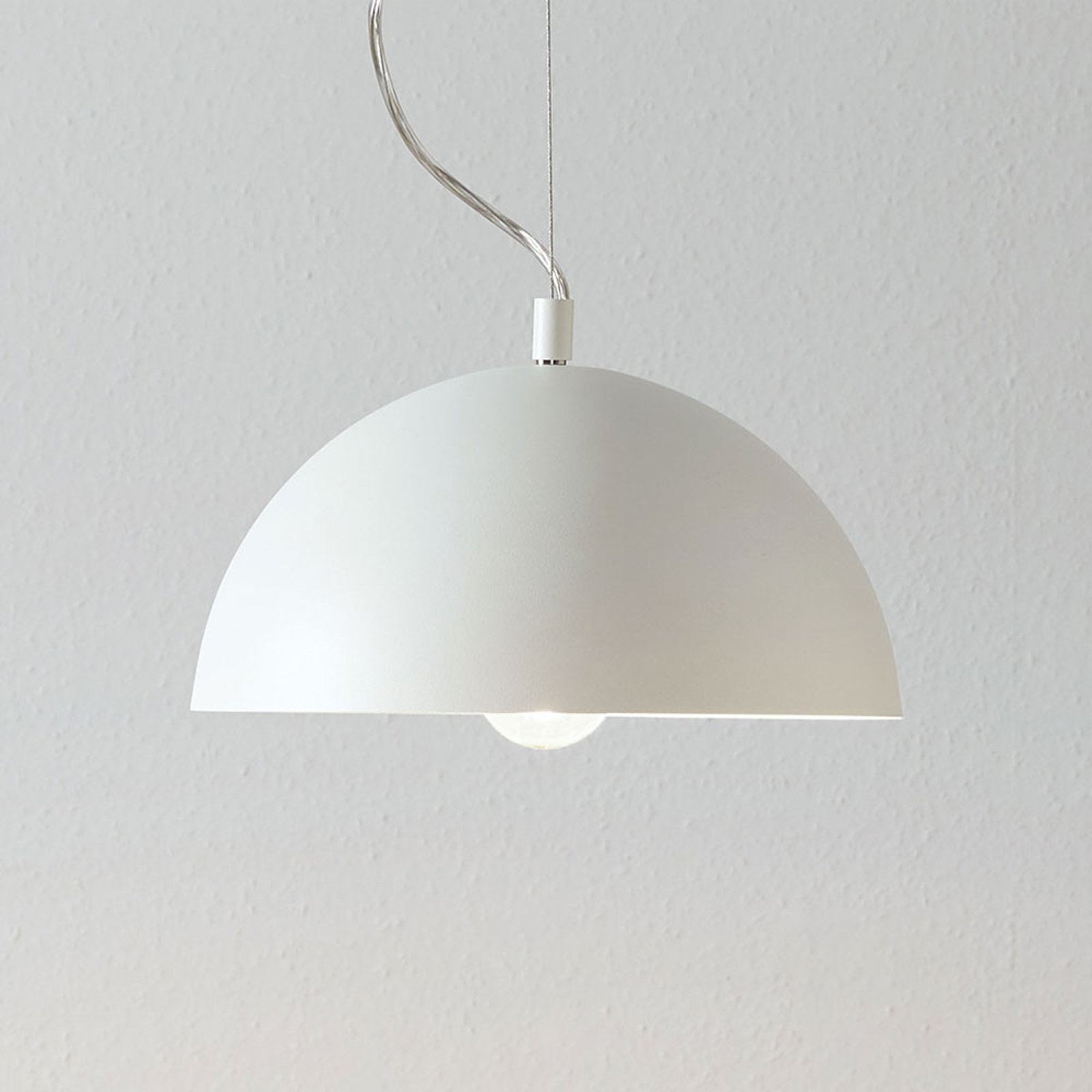 Lucande Maleo lampa wisząca 30cm biała
