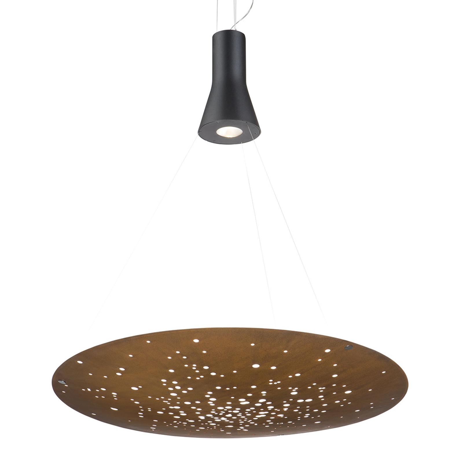 Fabbian Lens LED hanglamp Ø 90 cm roest