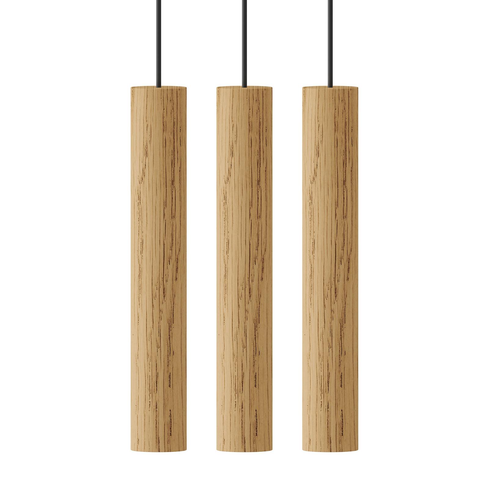 UMAGE Chimes Cluster 3 hanglamp eiken licht