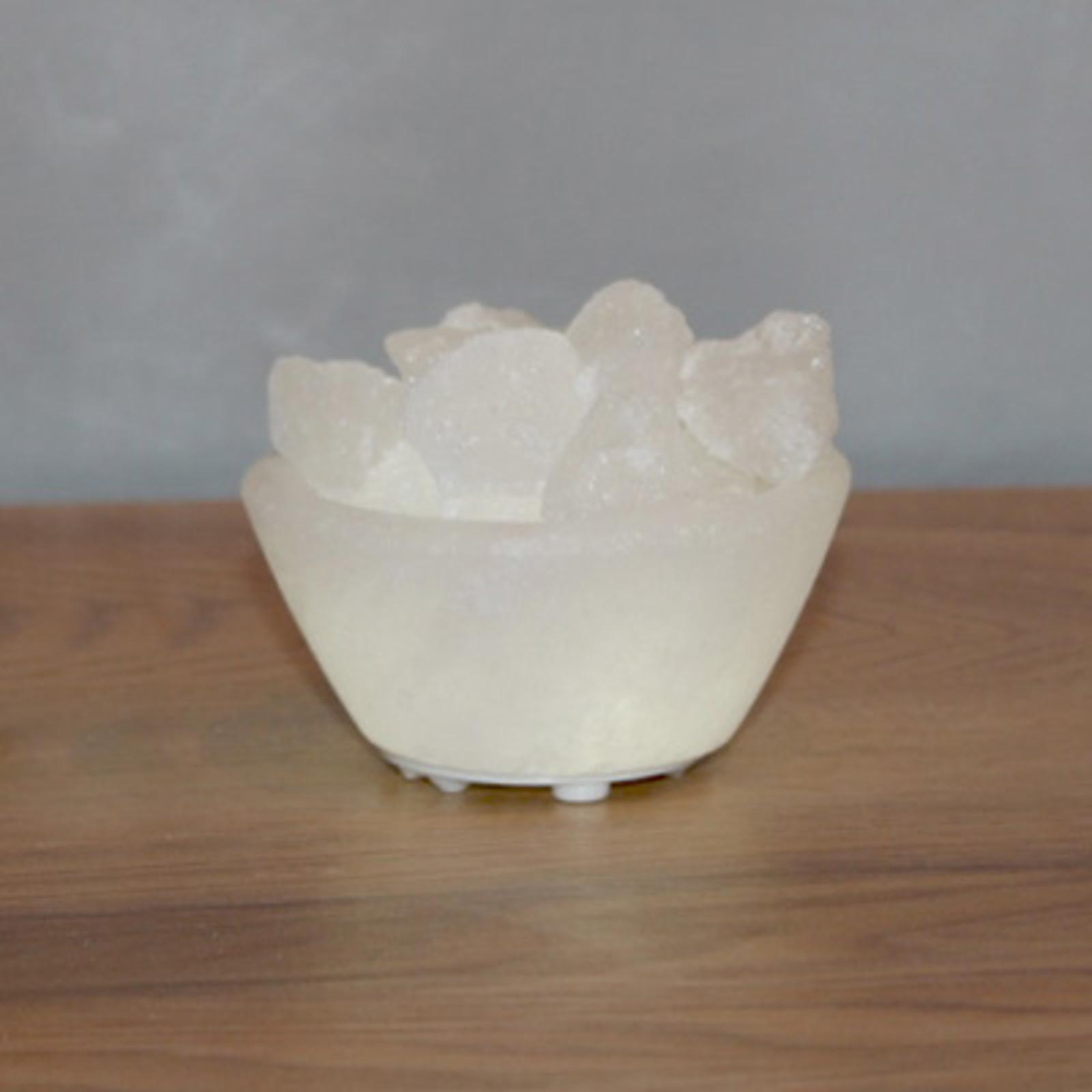 Biała miska solna Petite z oświetleniem LED