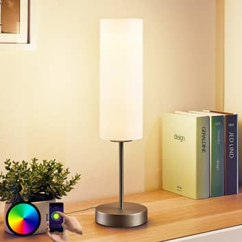 Lindby Smart LED-Tischlampe Felice mit RGB-Modus