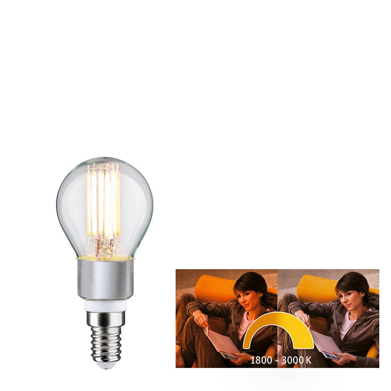 Paulmann goccia LED E14 5W dim to warm
