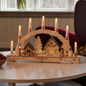 Arc lumineux LED bougies, transformateur ou pile