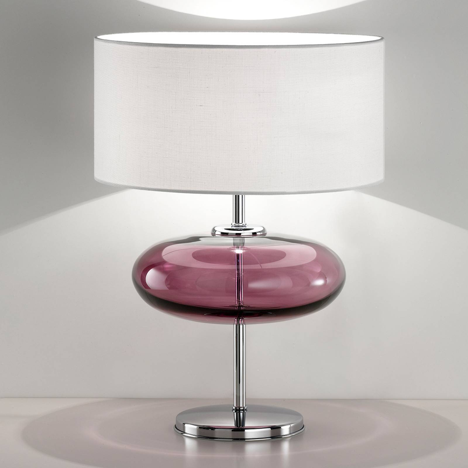 Tafellamp show Elisse 62 cm glaselement pink