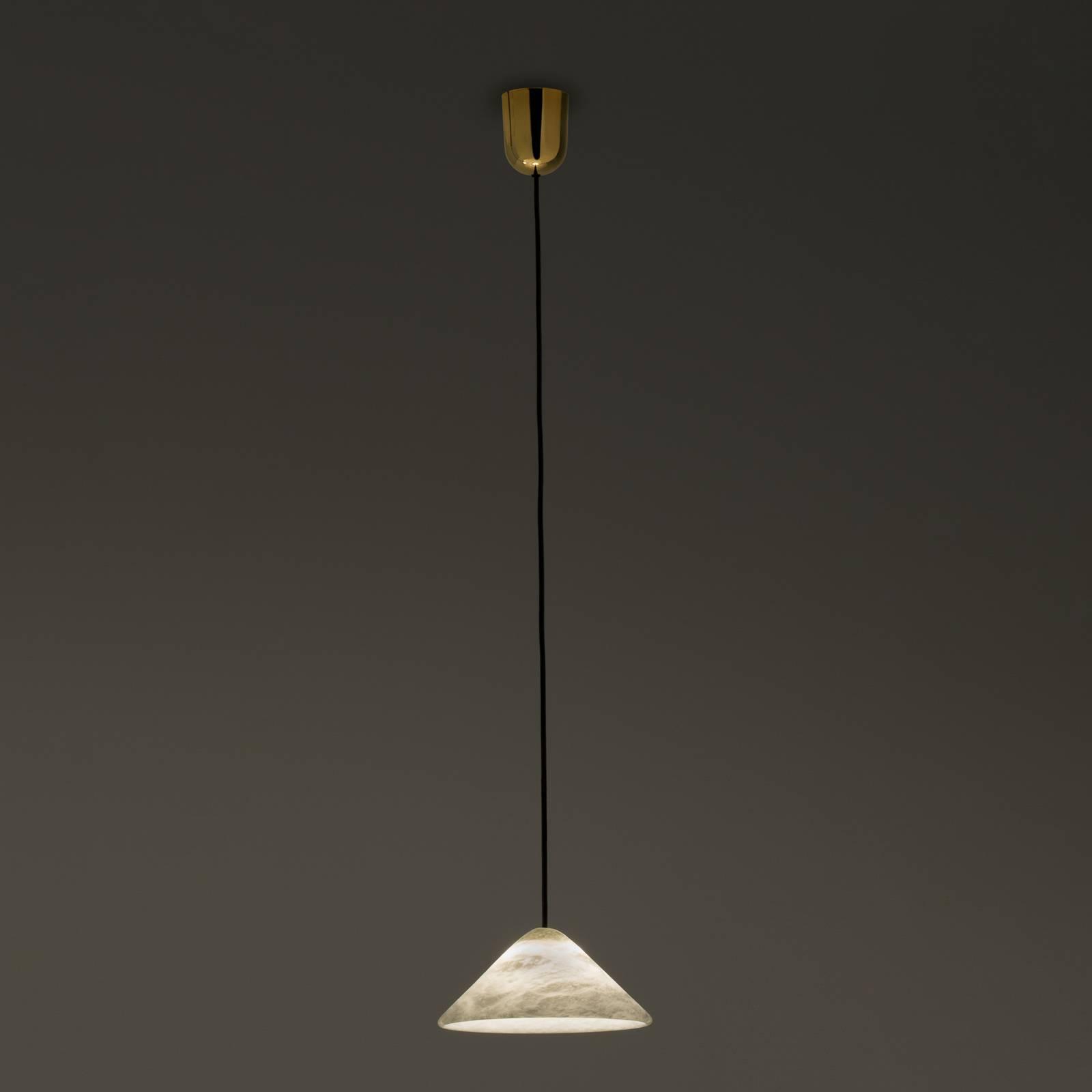 LED hanglamp Fuji van albast Ø 21 cm