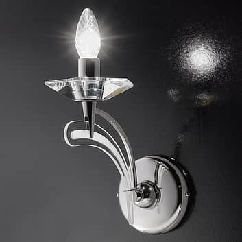 Applique ICARO 1 luce, con cristallo trasparente
