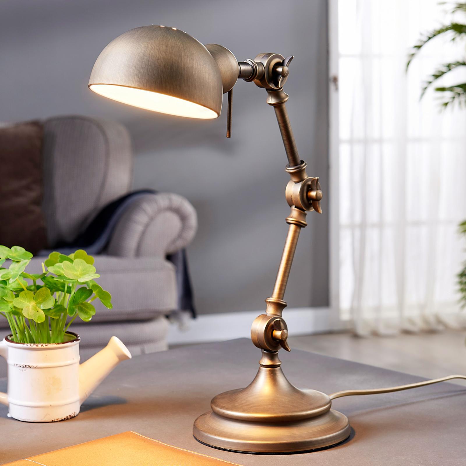 Ellisen - skrivebordslampe i bronze