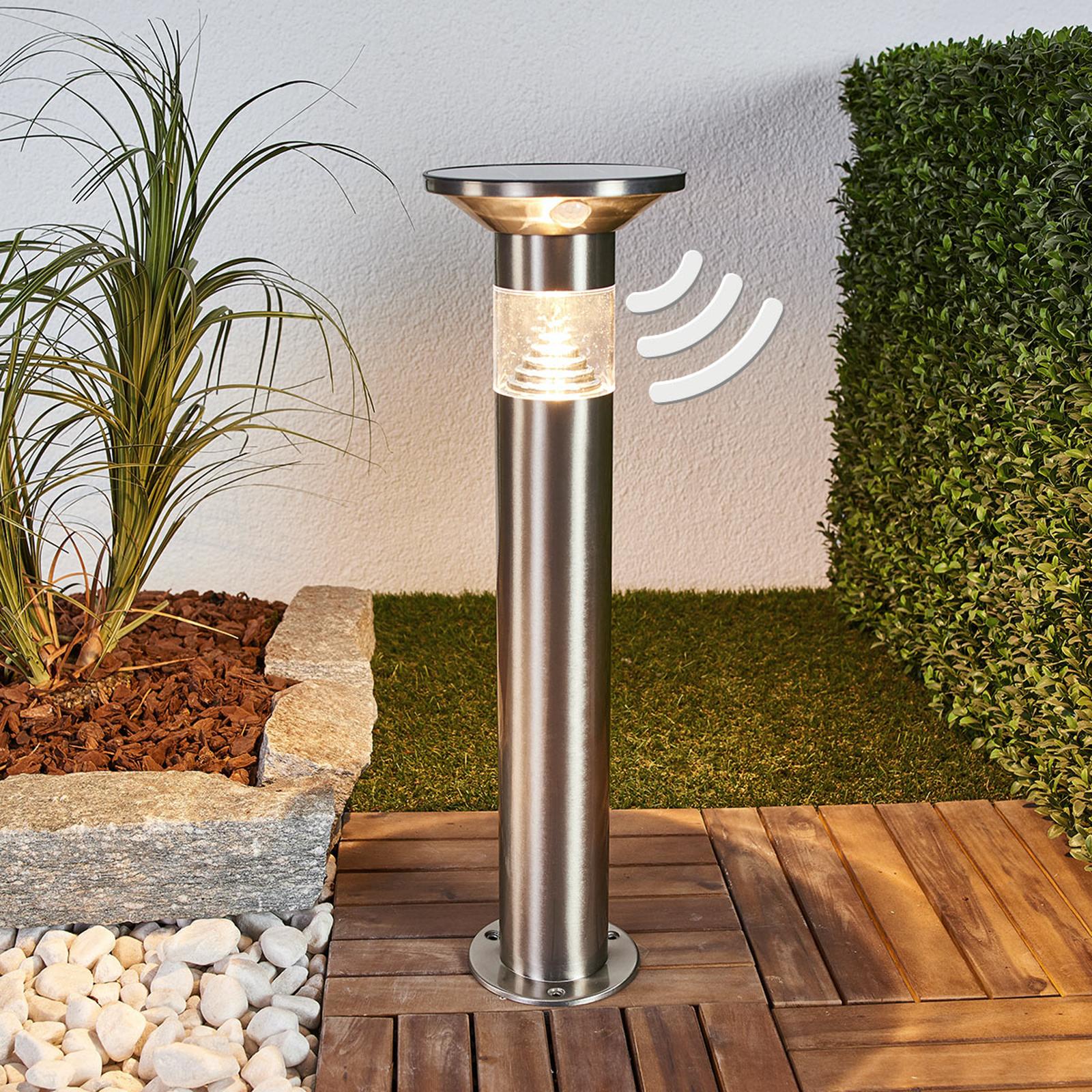 Potelet LED Jalisa, technologie solaire et capteur