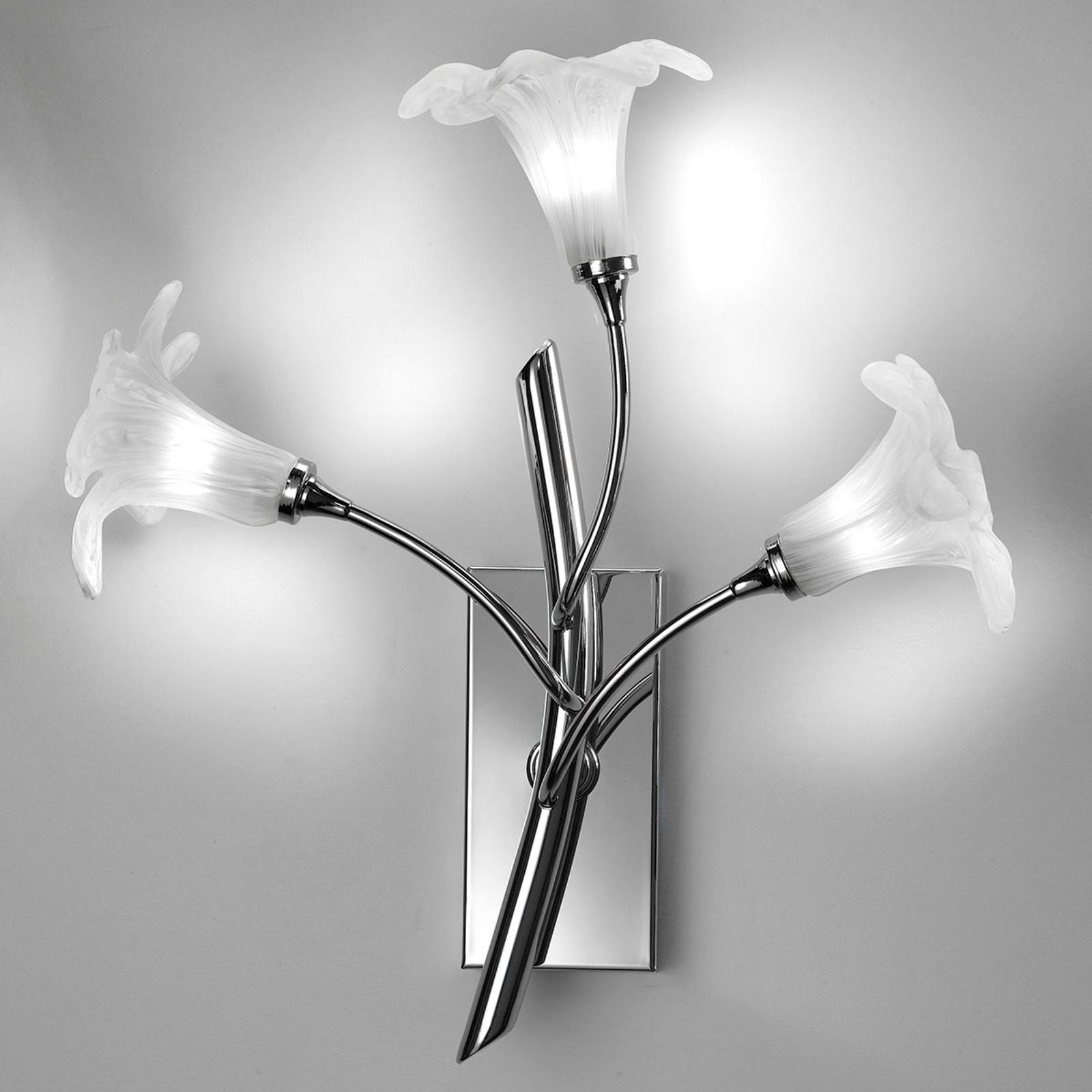 Wandlampe 7142 3-flammig, chrom/klar
