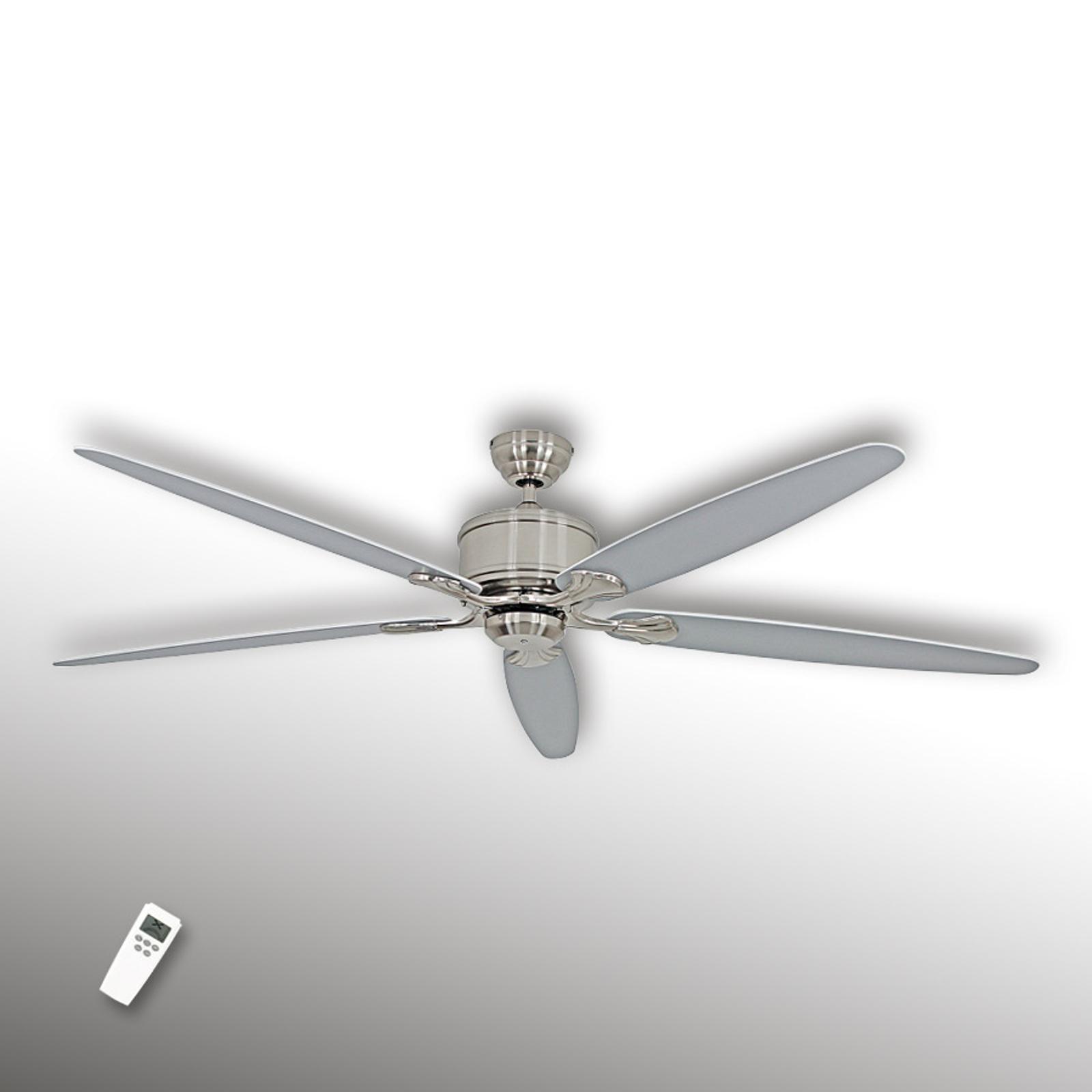 Úsporný stropní ventilátor Eco Elements, chrom