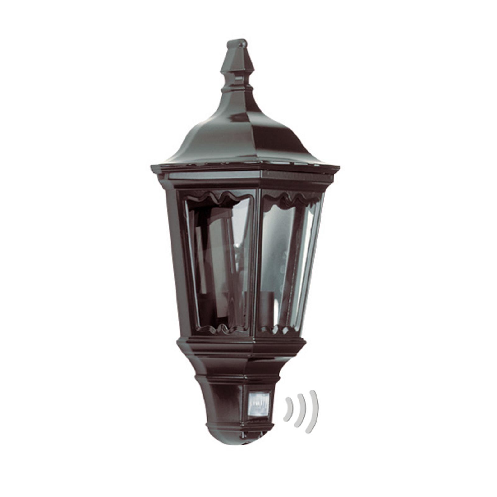Praktische buitenwandlamp Ancona, zwart