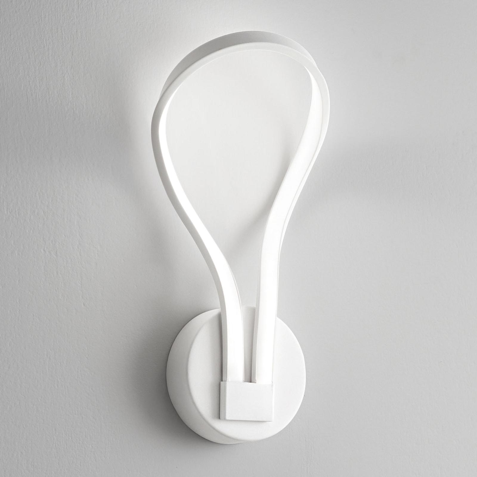 Applique LED Blossom, blanche-mate