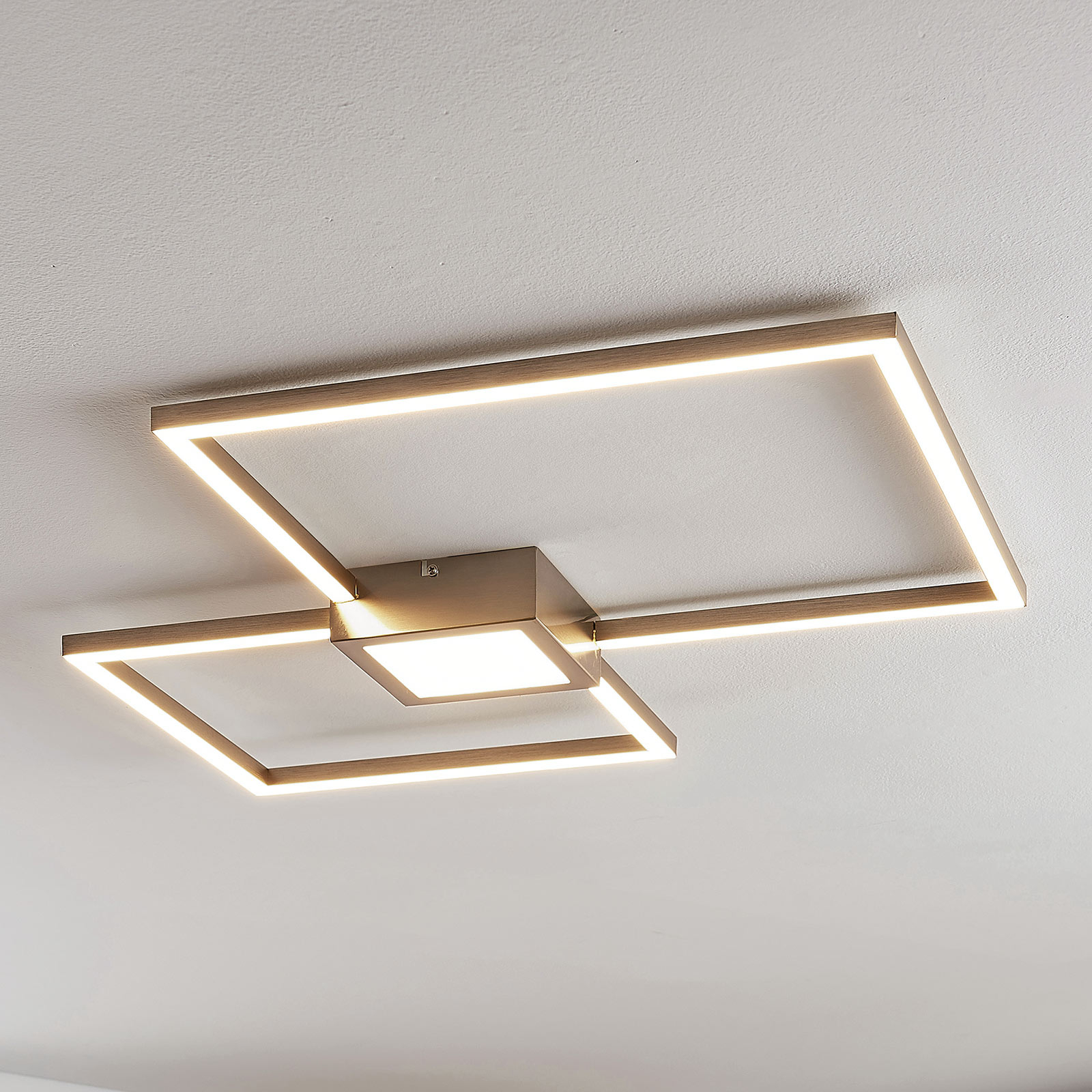 Plafonnier LED Duetto, carrés