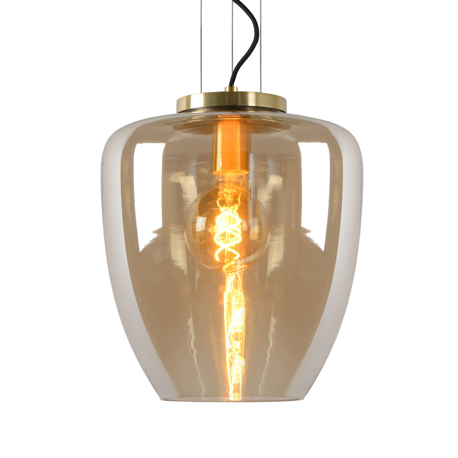 Suspension Florien en verre, ambre