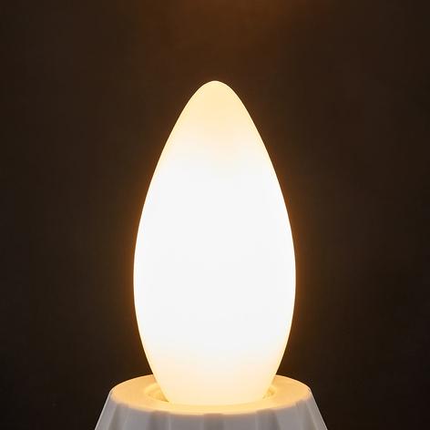 LED sviečková žiarovka E14 4W, 400 lm, 2700K/opál